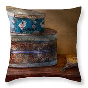 Furniture - Hat Boxes With Billow Throw Pillow