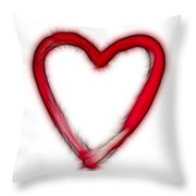 Furry Heart - Symbol Of Love Throw Pillow