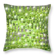Future Forest Abstract Throw Pillow