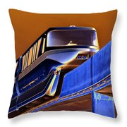 Future Monorail Throw Pillow
