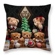 Fuzzy Bears 10 Throw Pillow