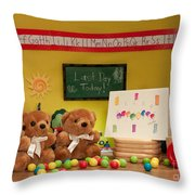 Fuzzy Bears 2 Throw Pillow