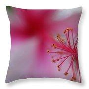 Fuzzy Hibiscus Throw Pillow