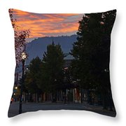 G Street Sunrise In Our Town Throw Pillow