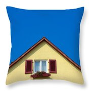 Gable Of Beautiful House In Front Of Blue Sky Throw Pillow