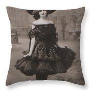 Gabrielle Ray Ca.1905 Throw Pillow
