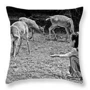 Gaining Trust Throw Pillow