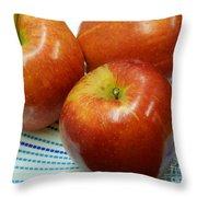 Gala Apples Throw Pillow