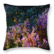 Galactic Asters II Throw Pillow