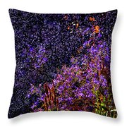 Galactic Gardens Throw Pillow