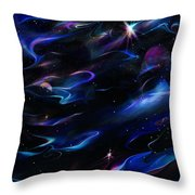 Galaxies Throw Pillow
