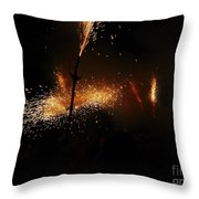 Galaxy Of Sparks Throw Pillow