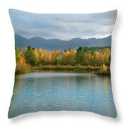 Gale River In Franconia New Hampshire Throw Pillow