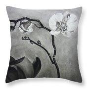 Galen's Orchid Throw Pillow by Estephy Sabin Figueroa