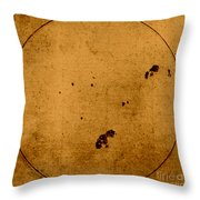 Galileo Sunspot Illustration Throw Pillow