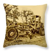 Galion Road Grader V2 Throw Pillow