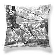 Gallant Admirers, 1869 Throw Pillow