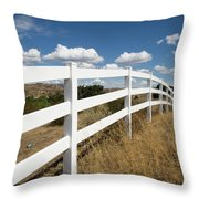 Galloping Fence Throw Pillow