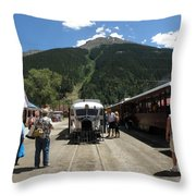 Galloping Goose With Kendall Mountain Throw Pillow