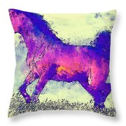 Galloping Grace Throw Pillow