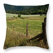 Galls Creek Farm Scene Throw Pillow