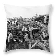 Galveston Disaster - C 1900 Throw Pillow