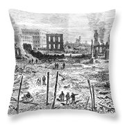 Galveston: Fire, 1877 Throw Pillow