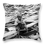 Galveston Flood Survivor - September - 1900 Throw Pillow by International  Images