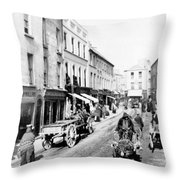 Galway Ireland - High Street - C 1901 Throw Pillow