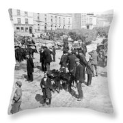 Galway Ireland - The Market At Eyre Square - C 1901 Throw Pillow