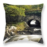 Galways Bridge, Killarney National Throw Pillow