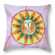 Ganesh Mandala Throw Pillow by Sonali Gangane