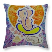 Ganesh Vandan Throw Pillow