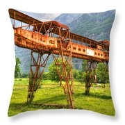 Gantry Crane Throw Pillow