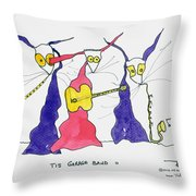 Garage Band 11 Throw Pillow