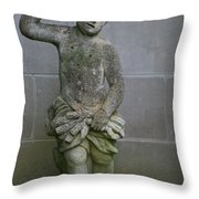 Garden Boy Throw Pillow