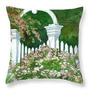 Garden Circle Gate Throw Pillow