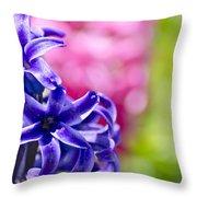 Garden Color Splash Throw Pillow