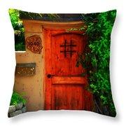 Garden Doorway Throw Pillow by Perry Webster
