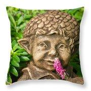 Garden Elf 2 Throw Pillow