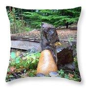 Garden Energy Rocks Throw Pillow