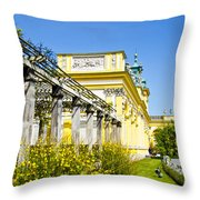 Garden Entry Wilanow Palace - Warsaw Throw Pillow