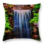 Garden Falls Fractalized Throw Pillow