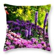 Garden Flowers 3 Throw Pillow