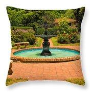 Garden Fountain 03 Throw Pillow