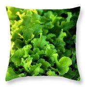 Garden Fresh Salad Bowl Lettuce Throw Pillow