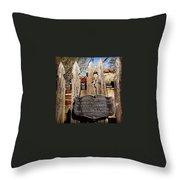 Garden In Philadelphia Throw Pillow