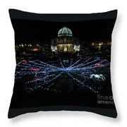 Garden Lights Fest Botanical Garden Richmond Va Throw Pillow