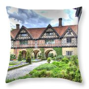 Garden Of Cecilenhof Palace Germany Throw Pillow