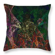 Garden Of Color Throw Pillow